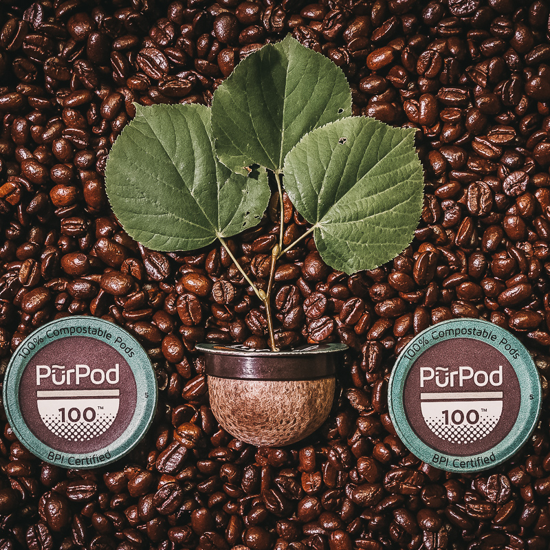 compostable pods - Canadian based Pur Pod is certified compostable in industrial facilities,& can breakdown in some home compost systems. They say if you can breakdowncornhusks in your home compost, this should take about the same time. Excitingly, the lids are compostable too.