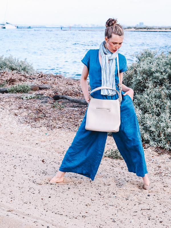Baker Bag - In Pebble vegan leather