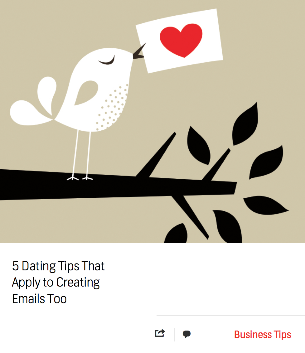 Blog: 5 Dating Tips That Apply to Creating Emails Too