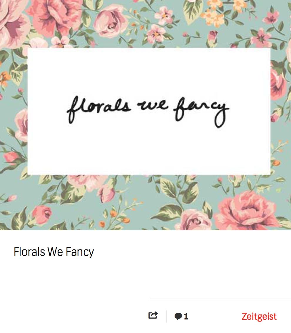 Blog: Florals We Fancy