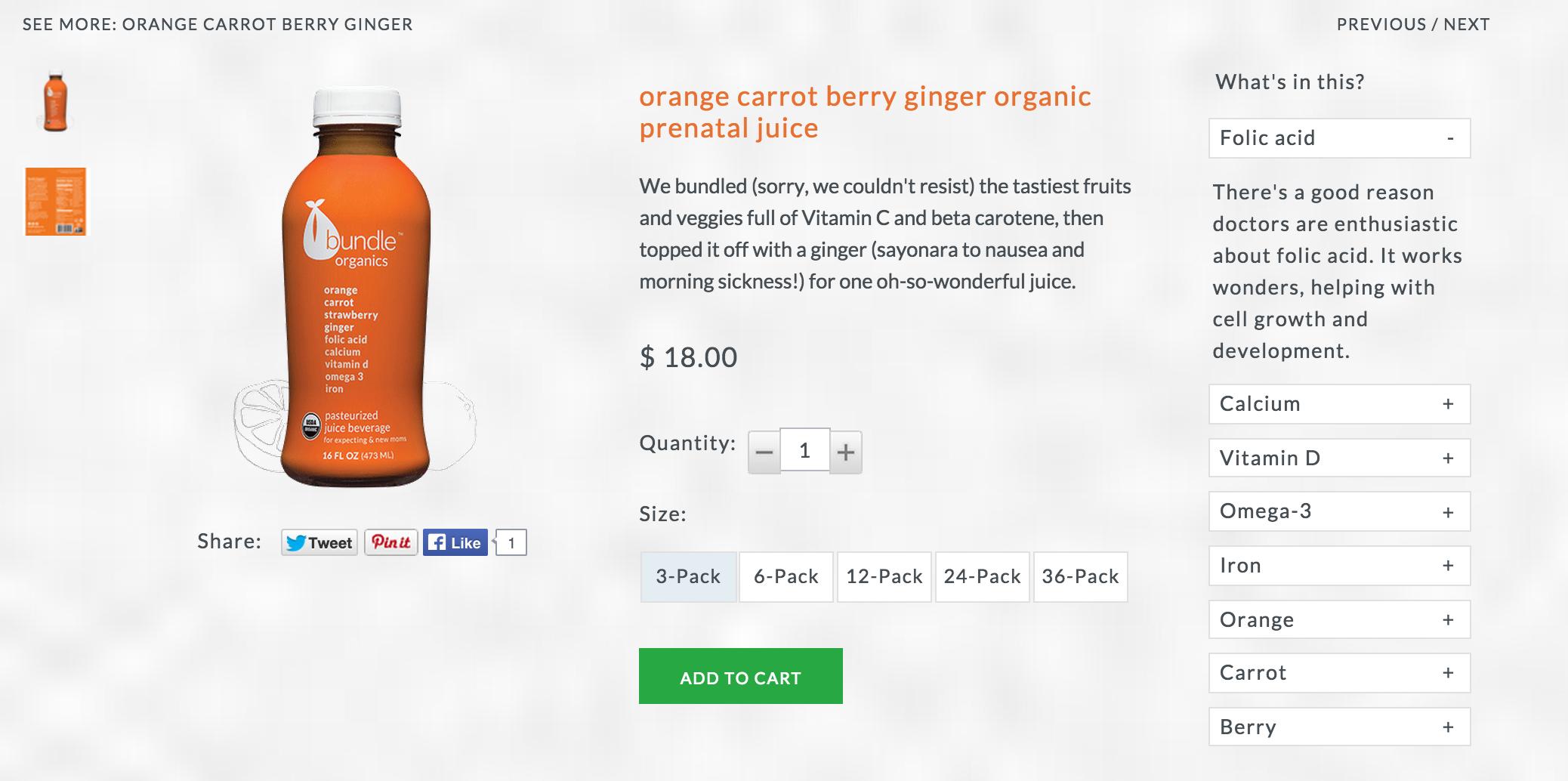 Product Description: Orange Carrot Berry Ginger