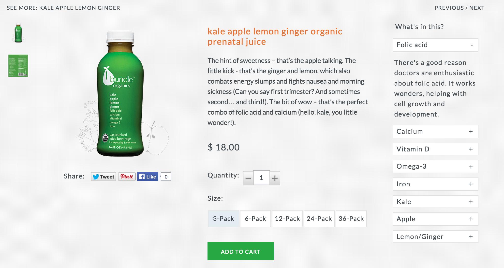 Product Description: Kale Apple Lemon Ginger
