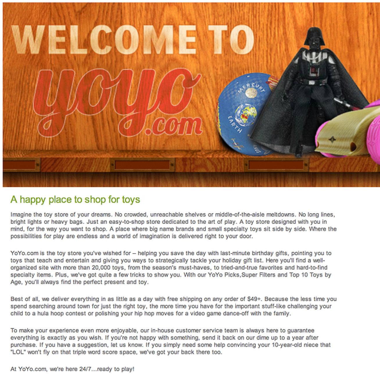 About Us: YoYo.com (sister site)