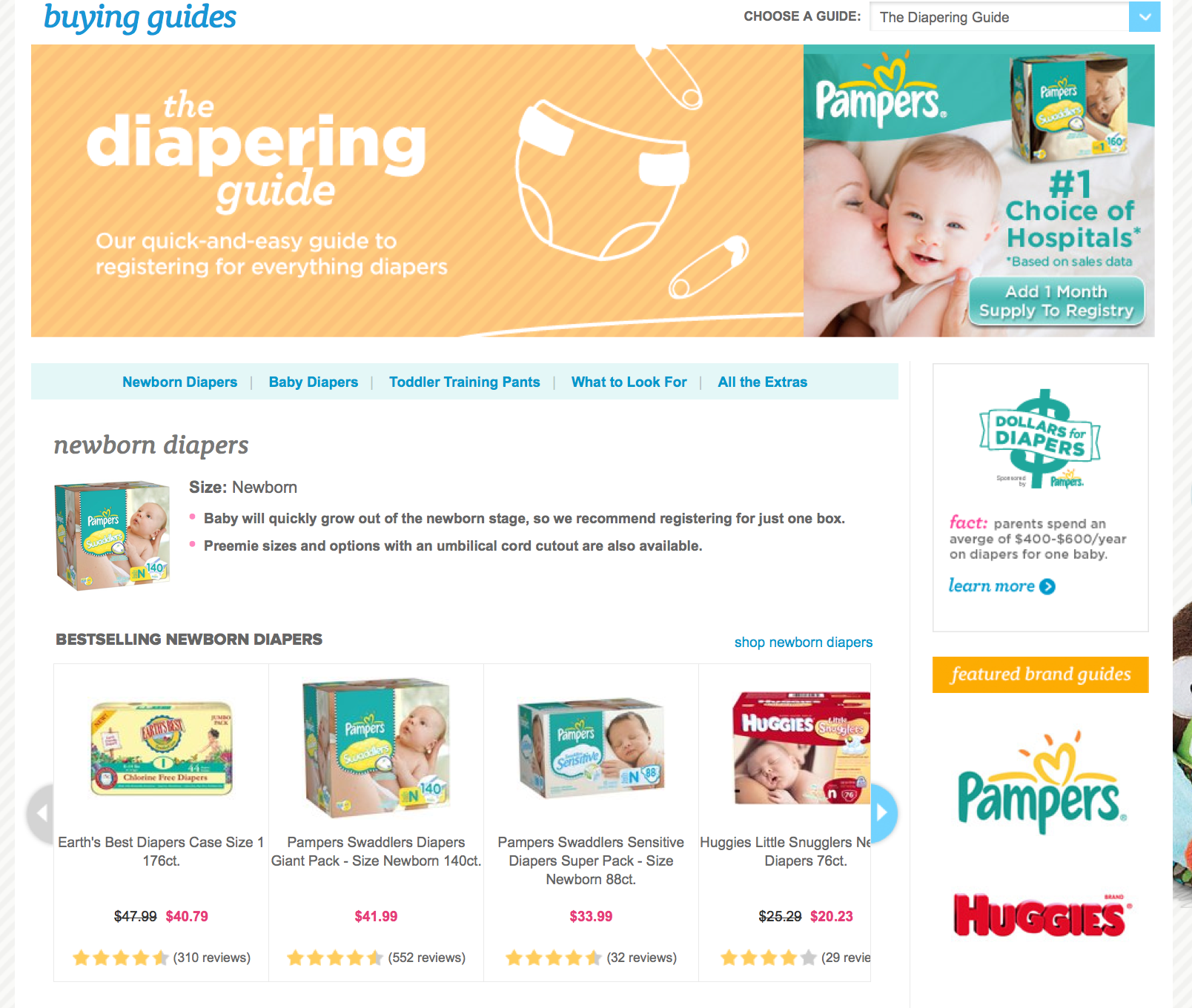Buying Guide: Diapers