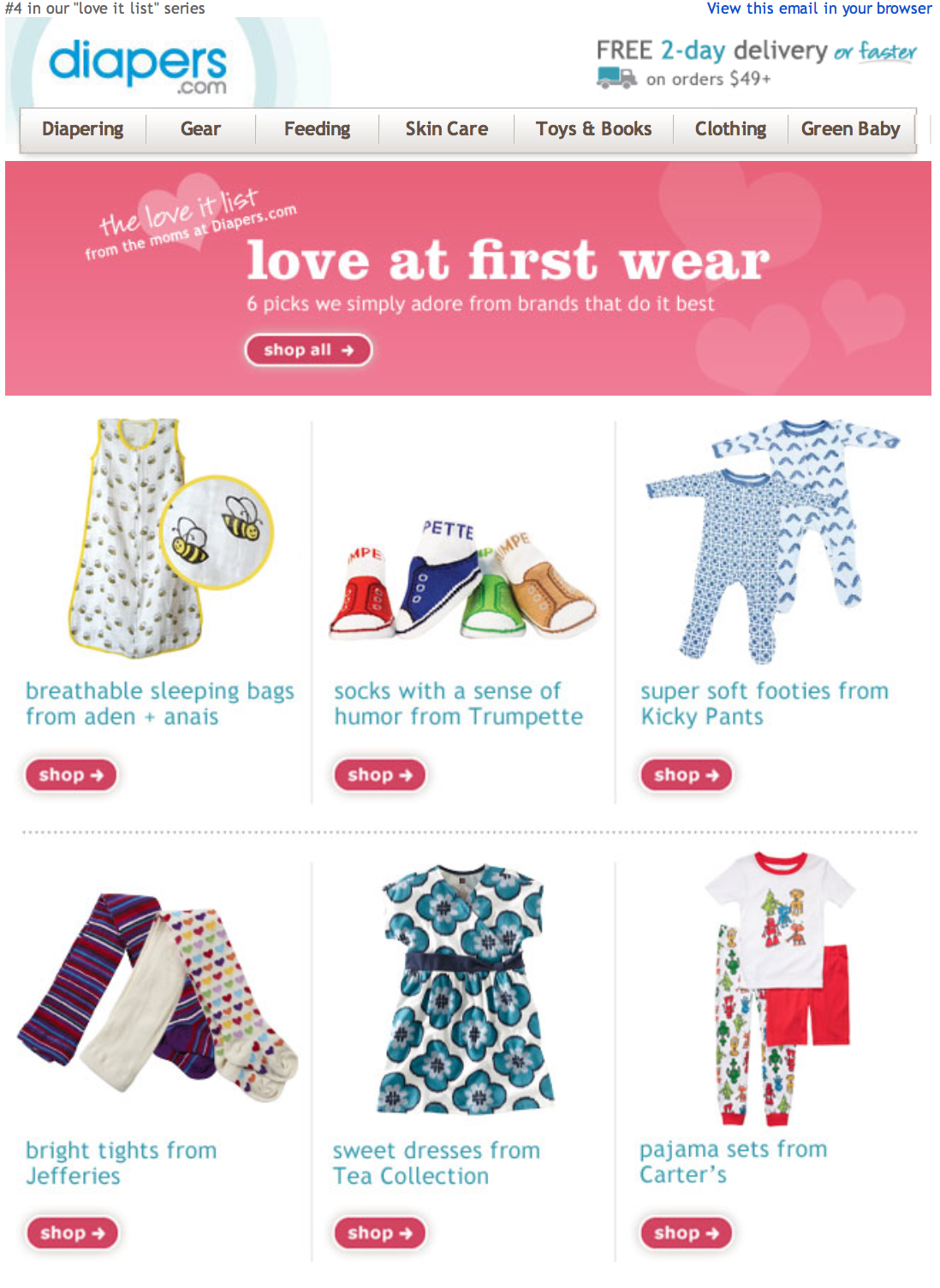 Email: Love at First Wear
