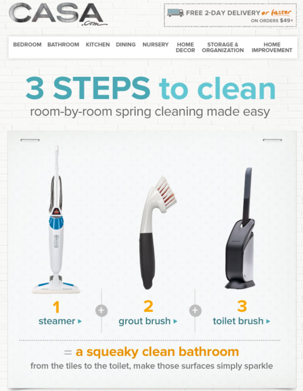 Email: 3 Steps to Clean