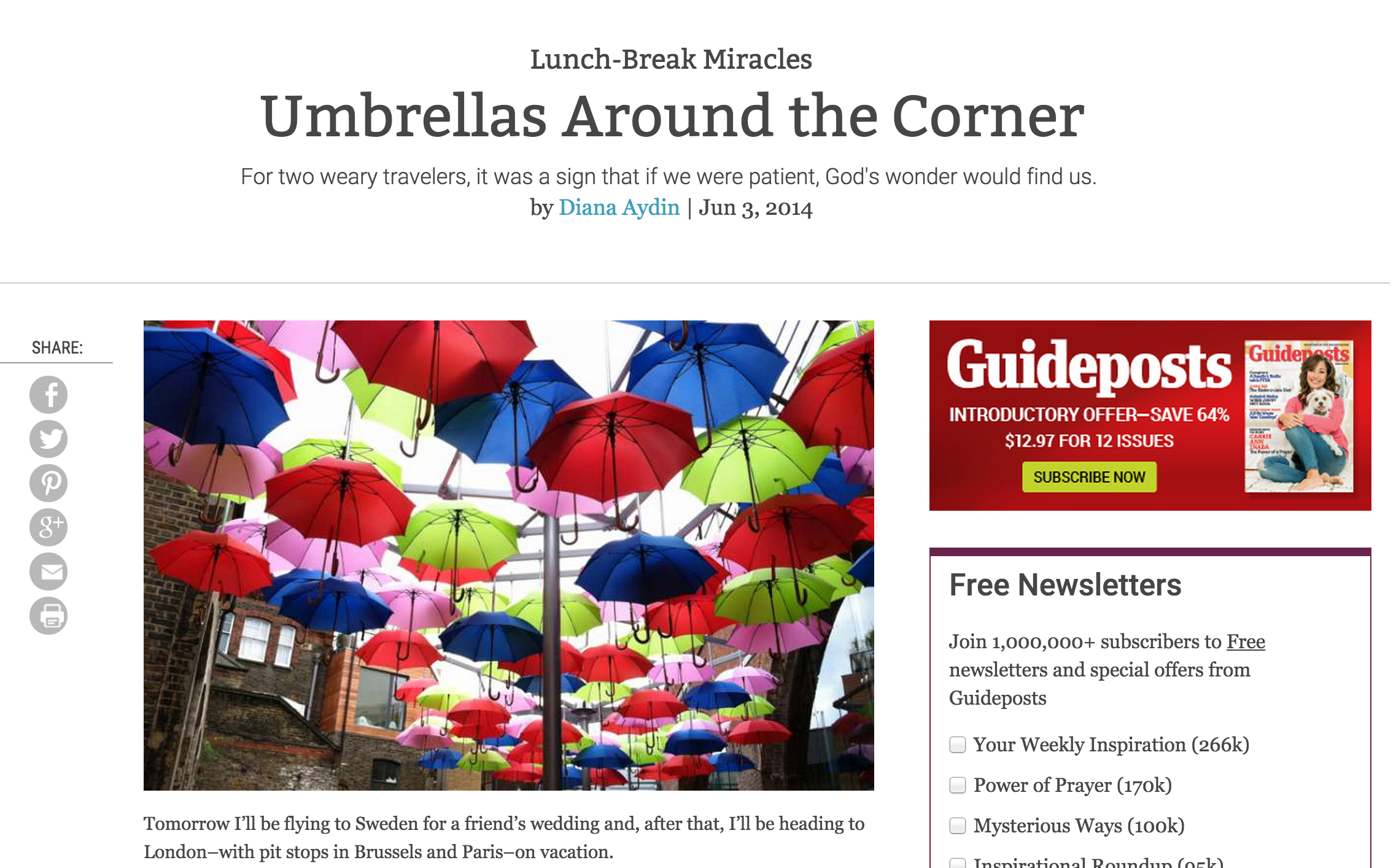 Umbrellas Around the Corner