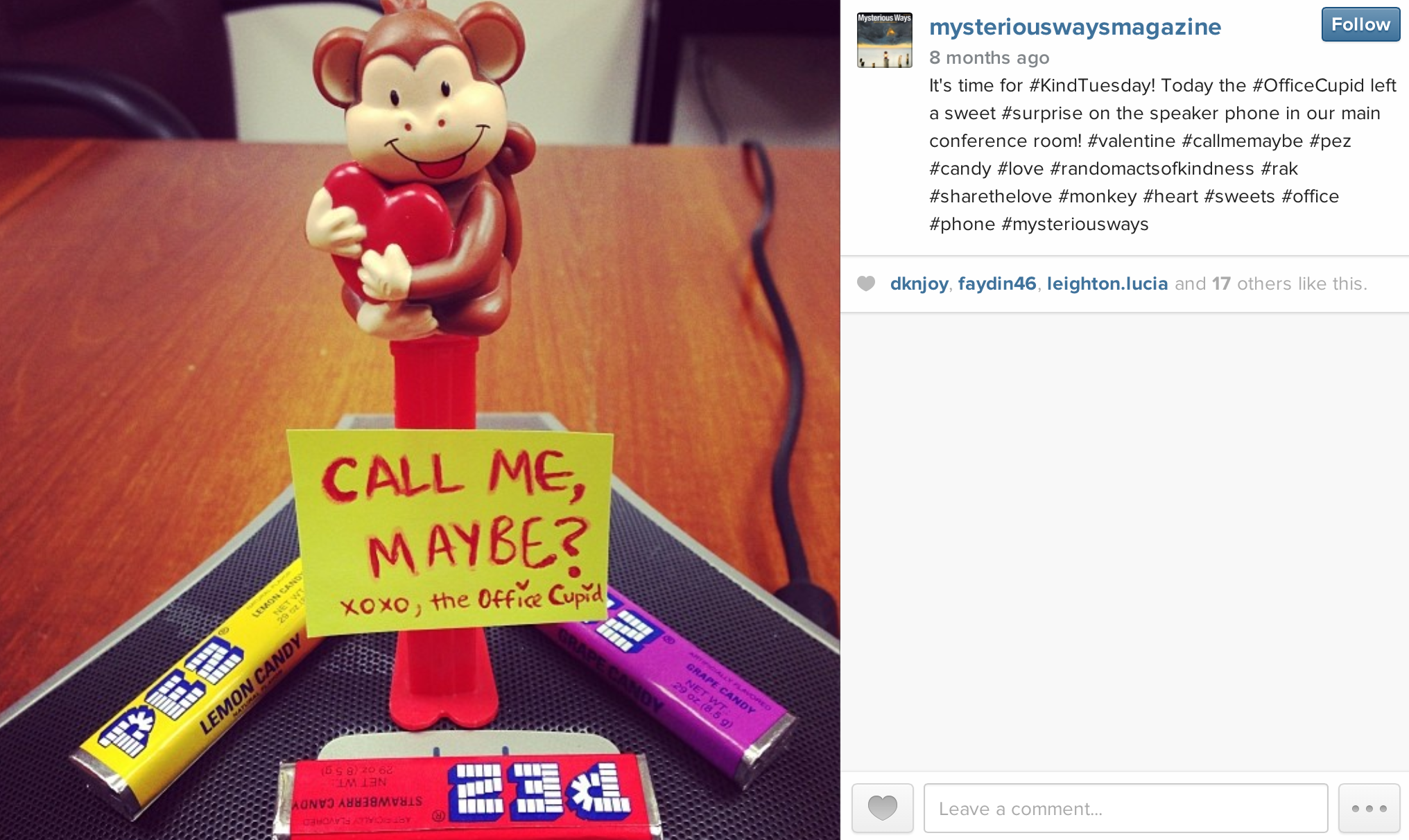 Instagram: Office Cupid