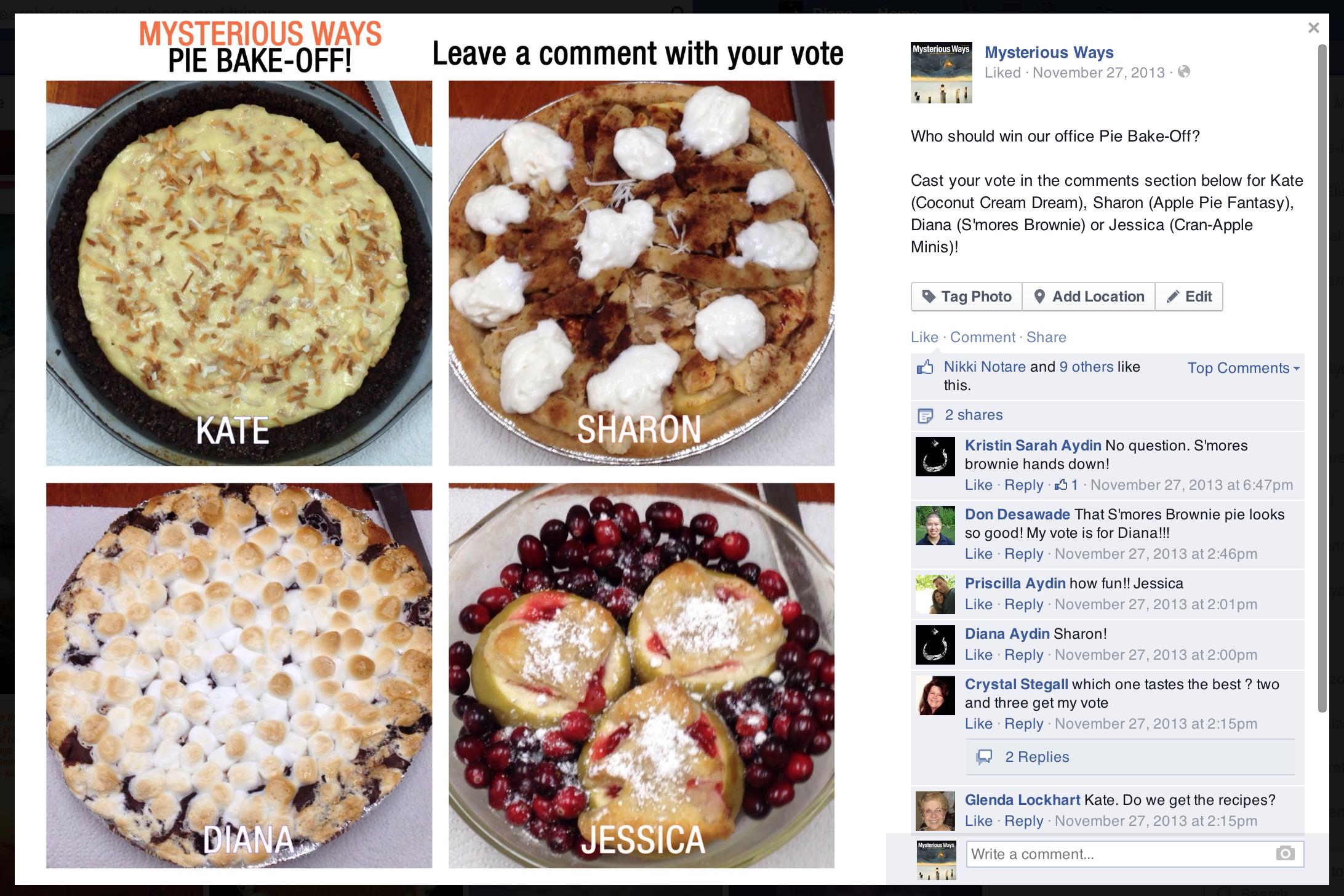 Facebook: Pie Bake-Off