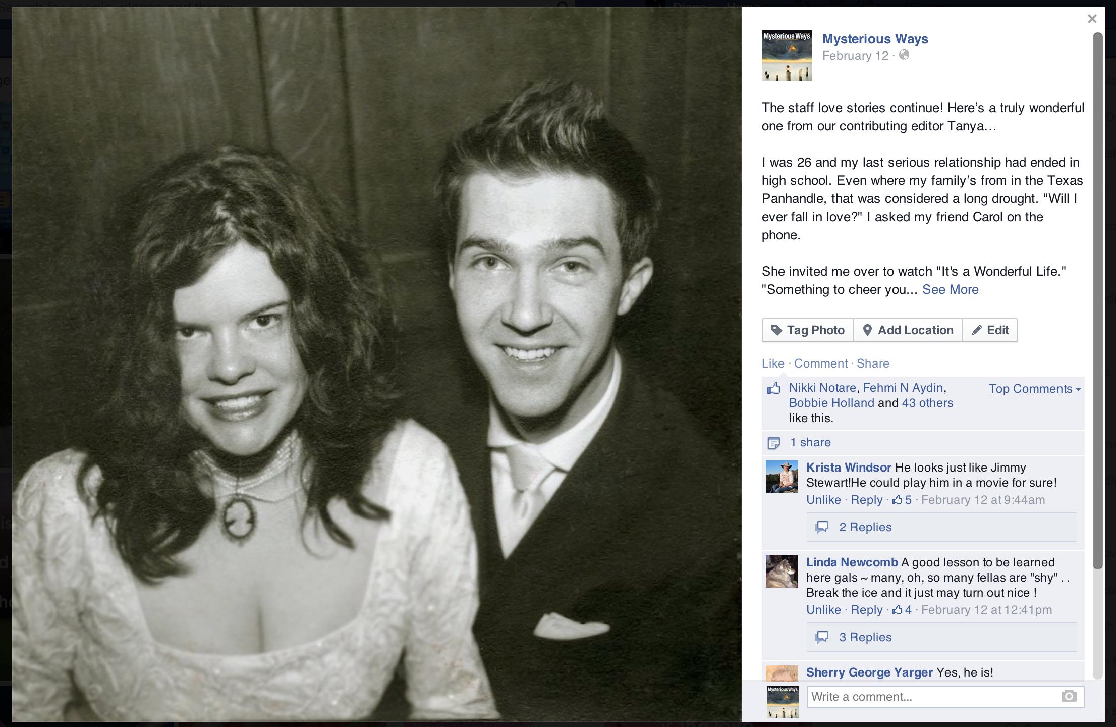 Facebook: Staff Love Stories
