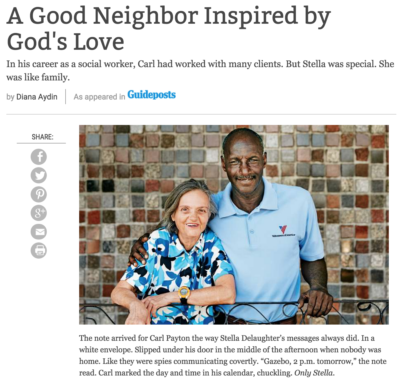 A Good Neighbor Inspired by God's Love