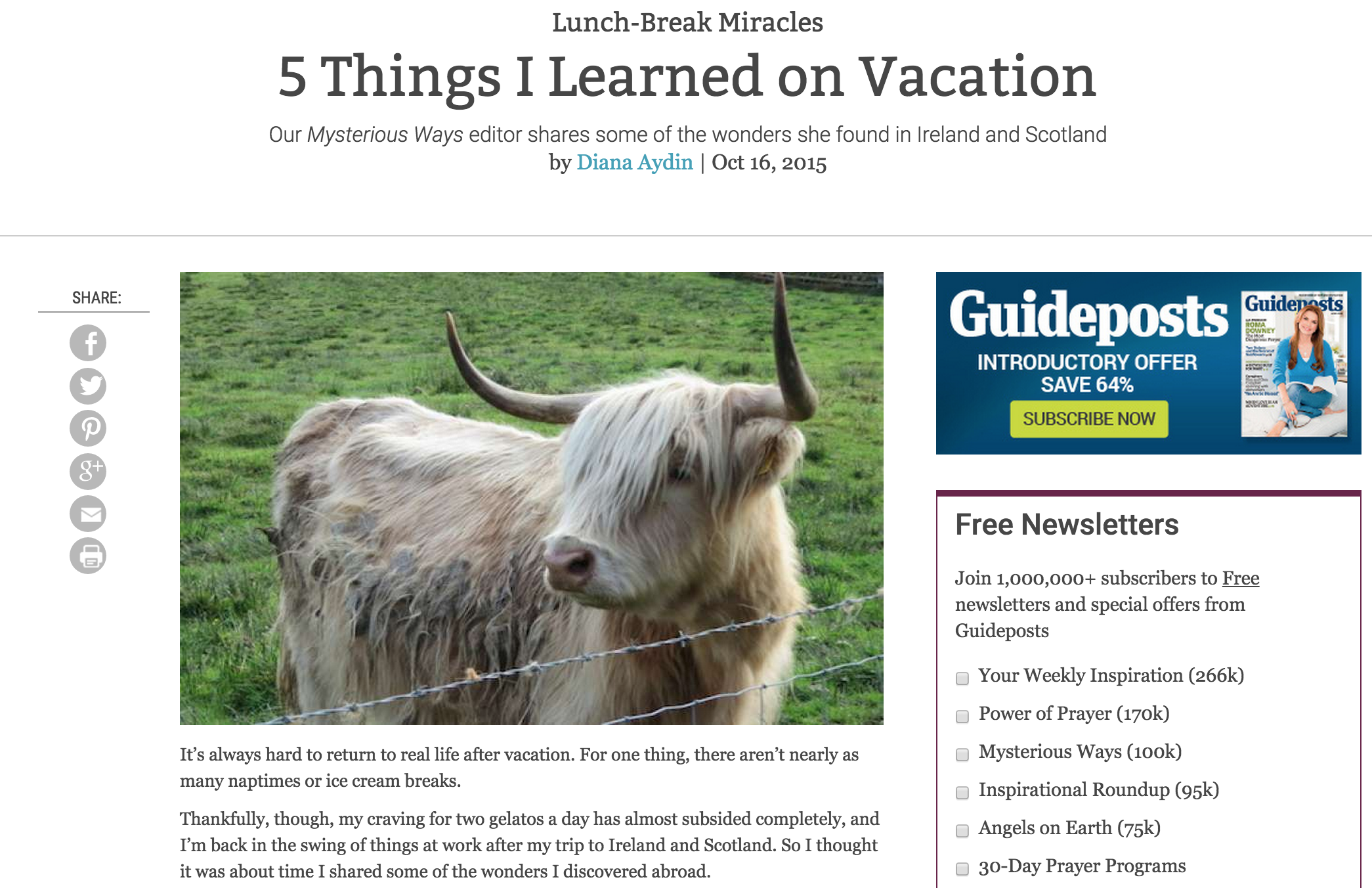 5 Things I Learned on Vacation