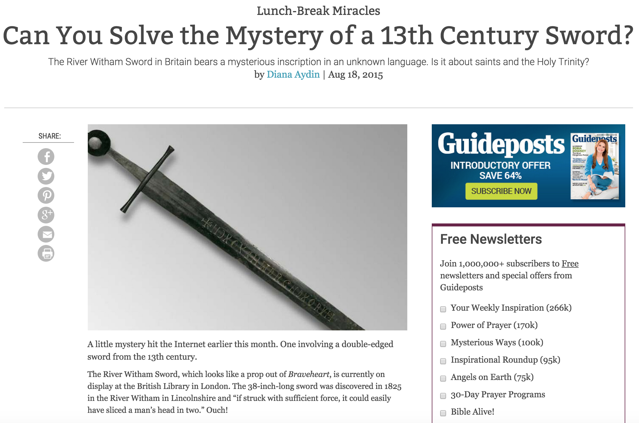 Can You Solve the Mystery of a 13th Century Sword?