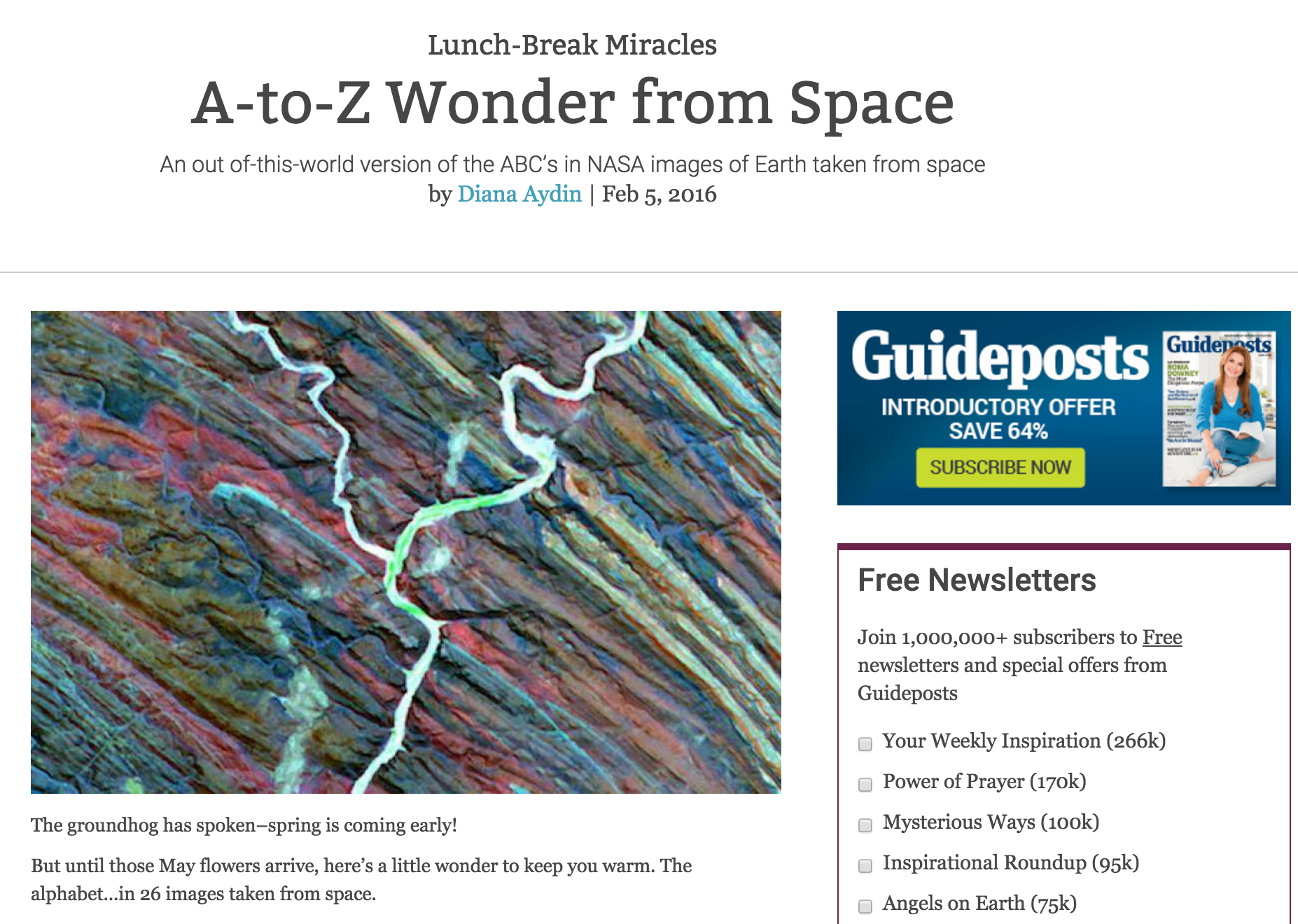 A-to-Z Wonder from Space