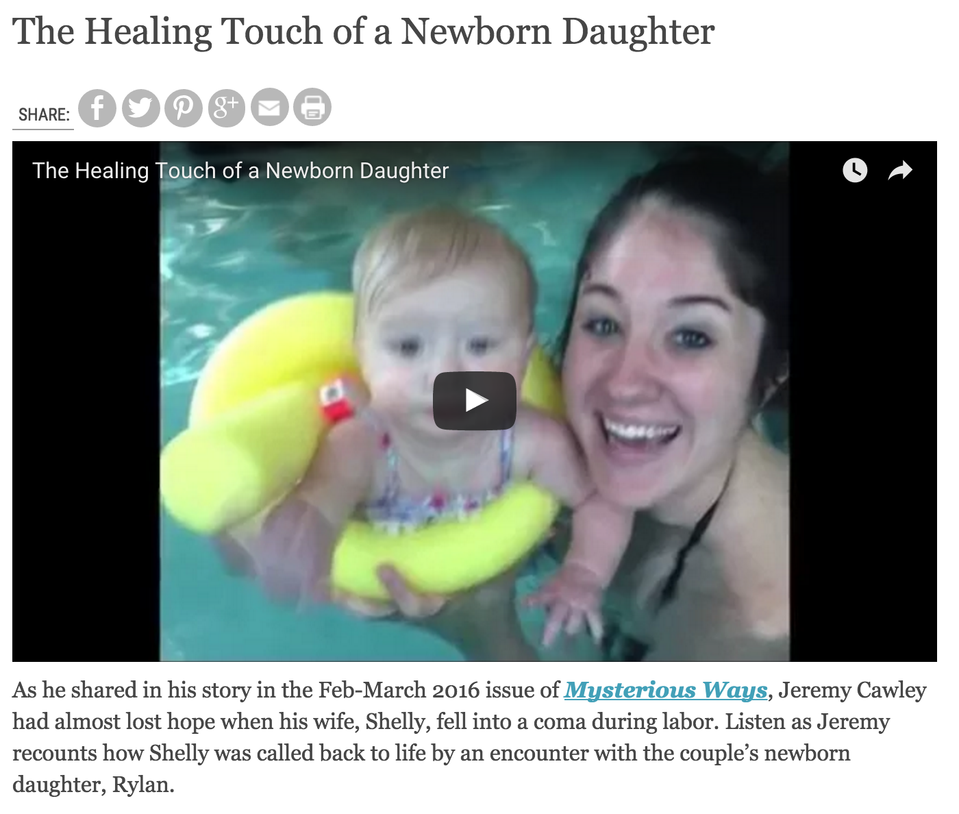 The Healing Touch of a Newborn Daughter