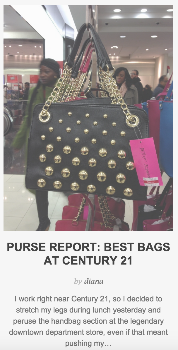 Purse Report: Best Bags at Century 21