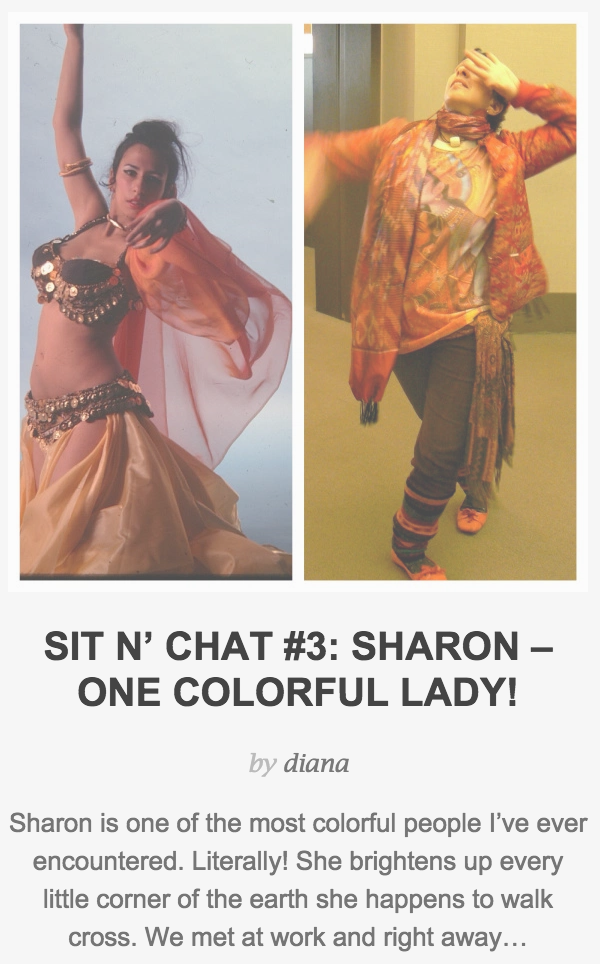 Sit n' Chat #3: Sharon - One Colorful Lady!