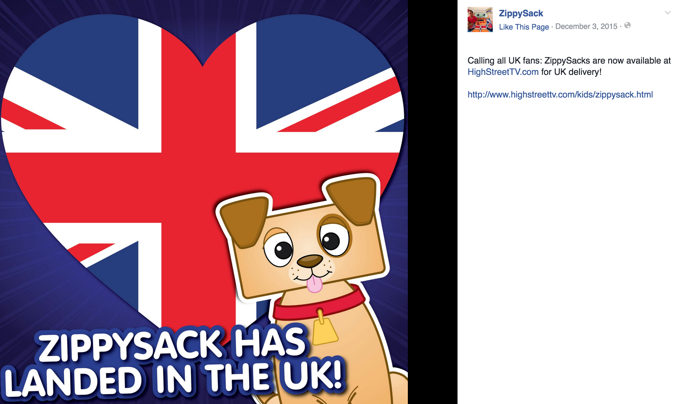 Facebook: Calling UK Fans