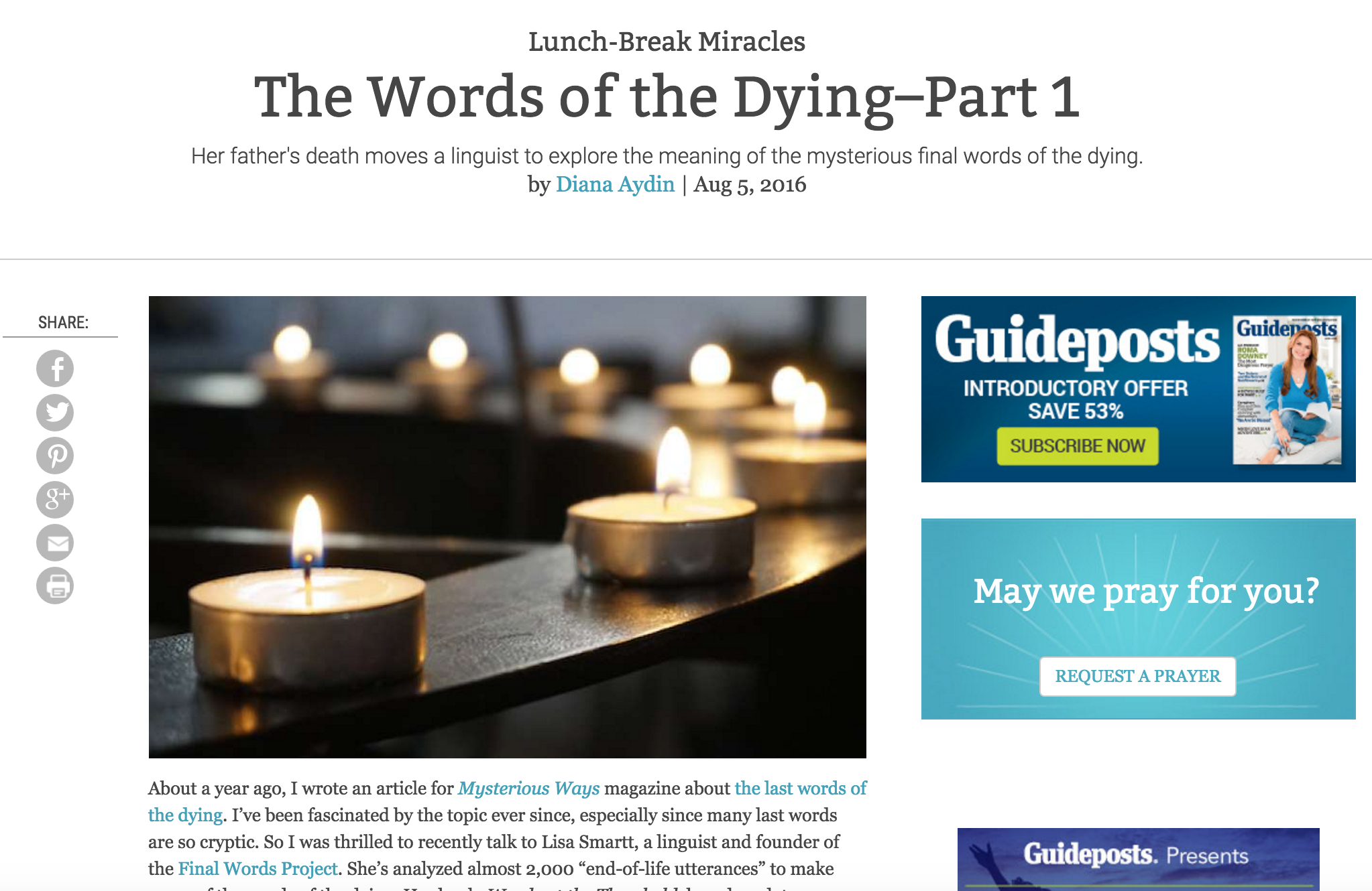 The Words of the Dying - Part 1