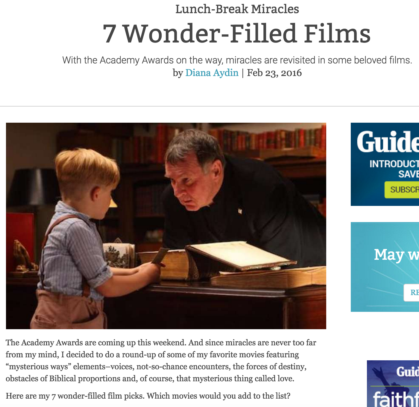 7 Wonder-Filled Films