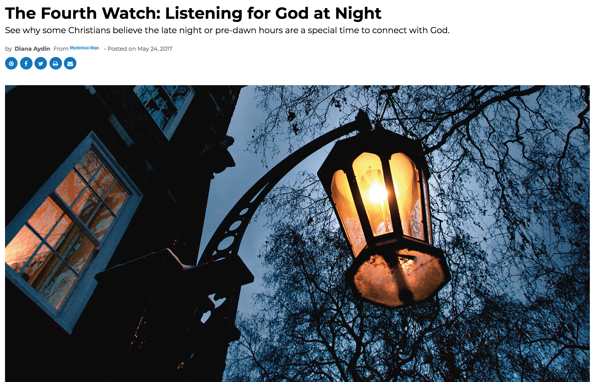 The Fourth Watch: Listening for God at Night