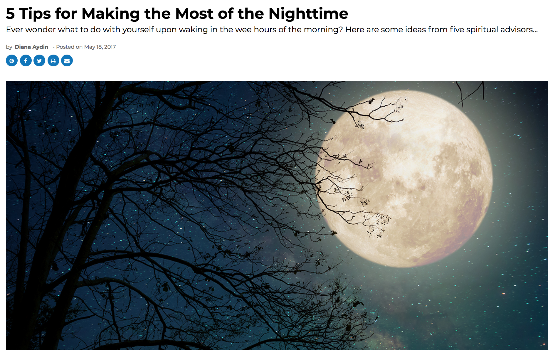 5 Tips for Making the Most of the Nighttime