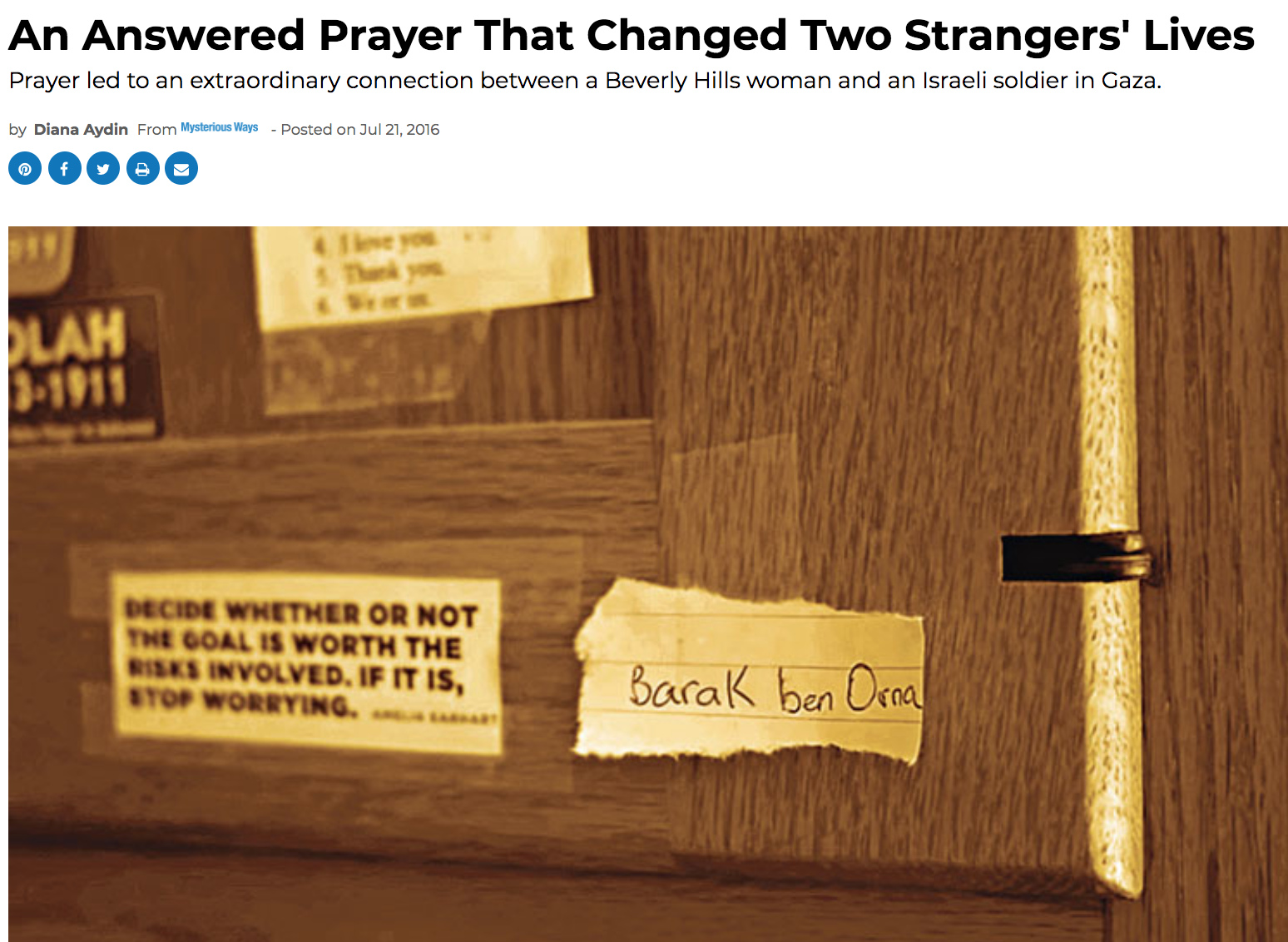 An Answered Prayer That Changed Two Strangers' Lives