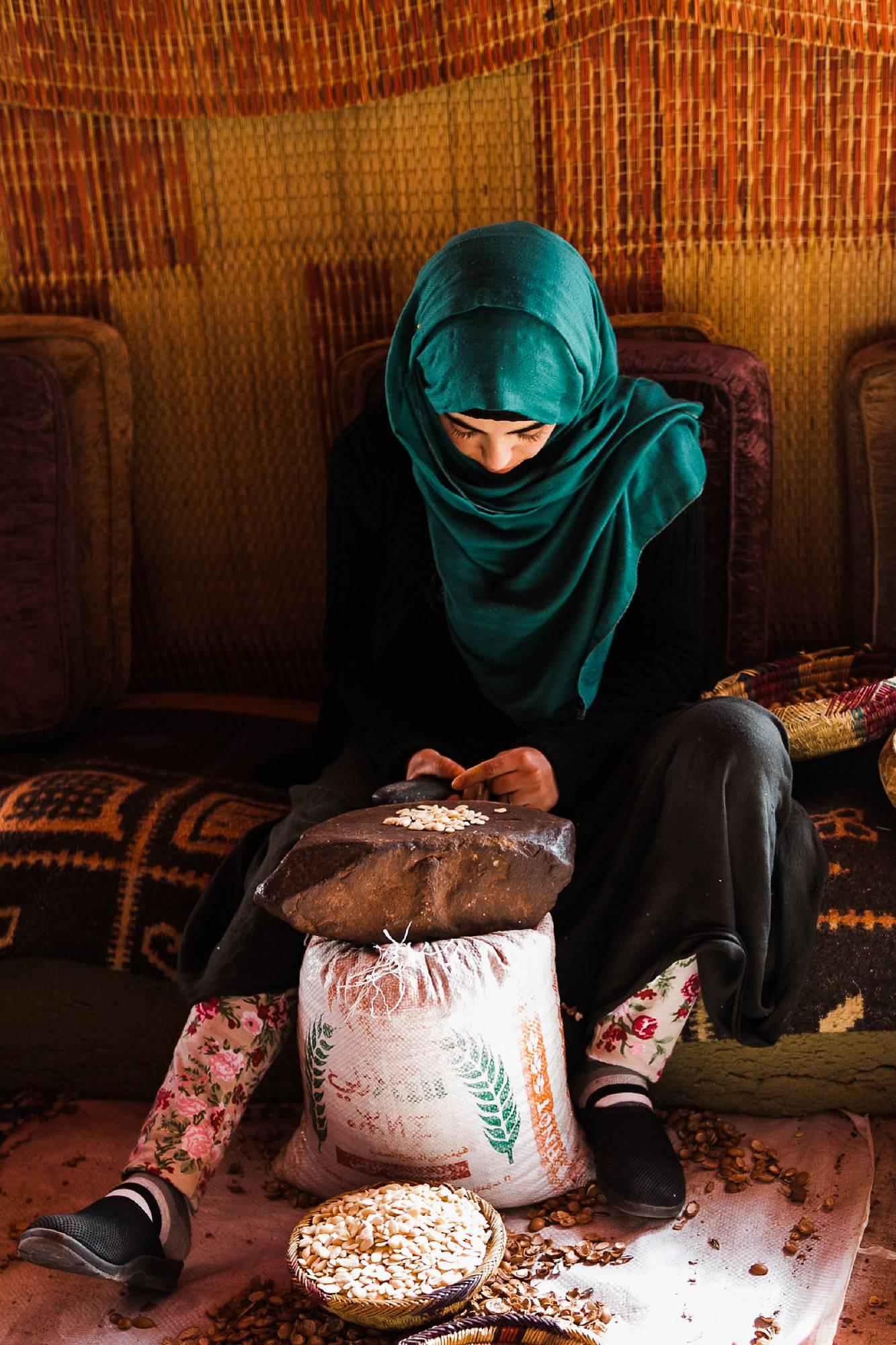 Morocco Sahara argan farmer vendor