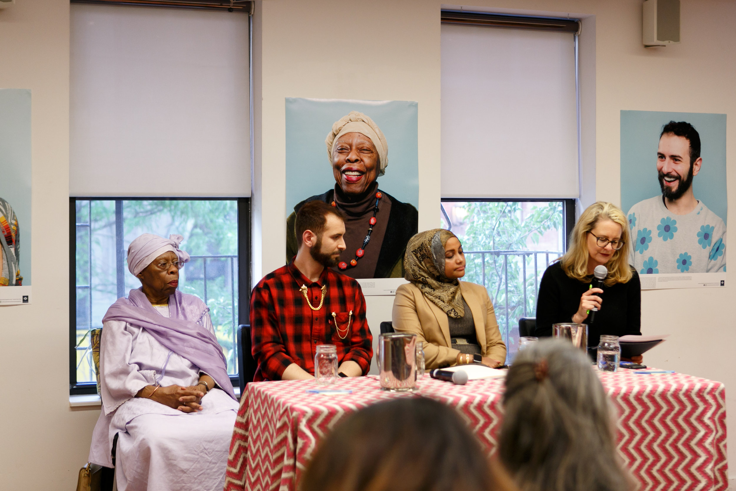 panelist speaking at the Tenement Museum's New York Ramadan: Muslim Life on the Lower East Side event