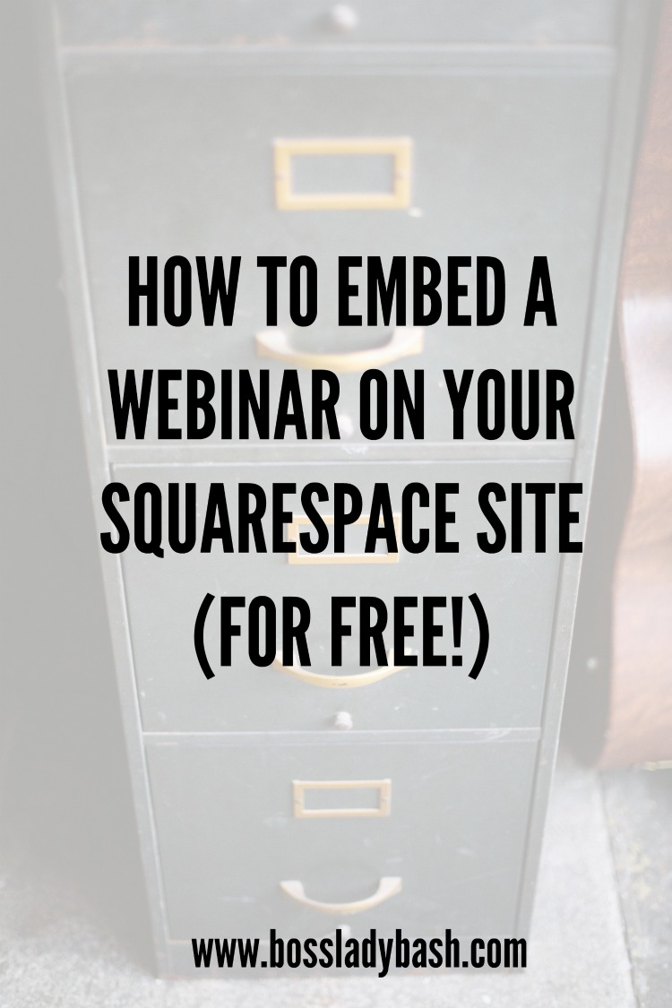 How to embed a webinar on your Squarespace website for free using Google Hangout On Air