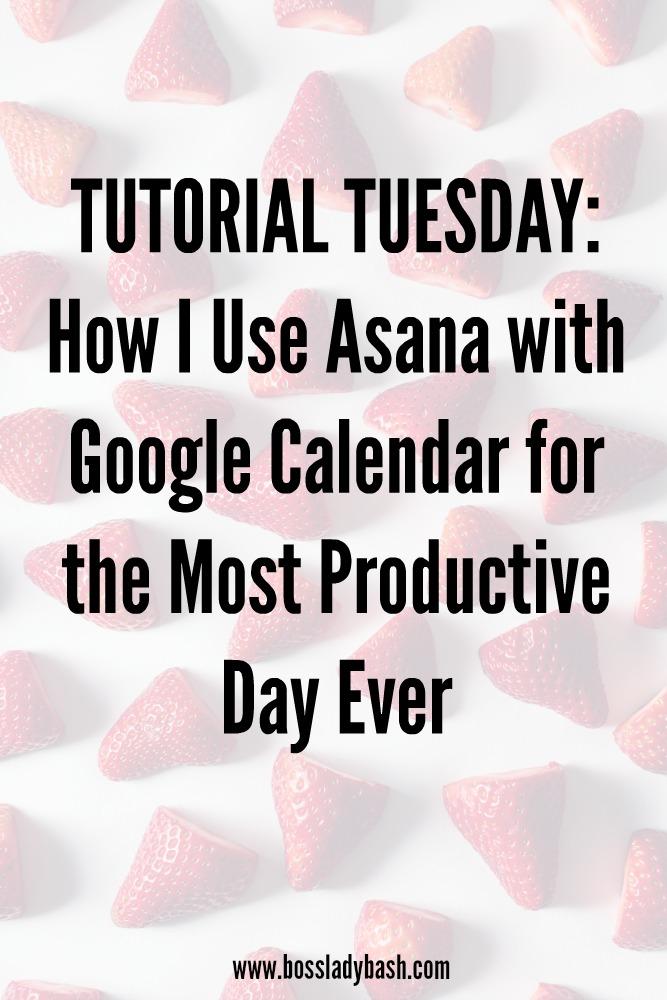 A tutorial on how to use Asana with Google Calendar