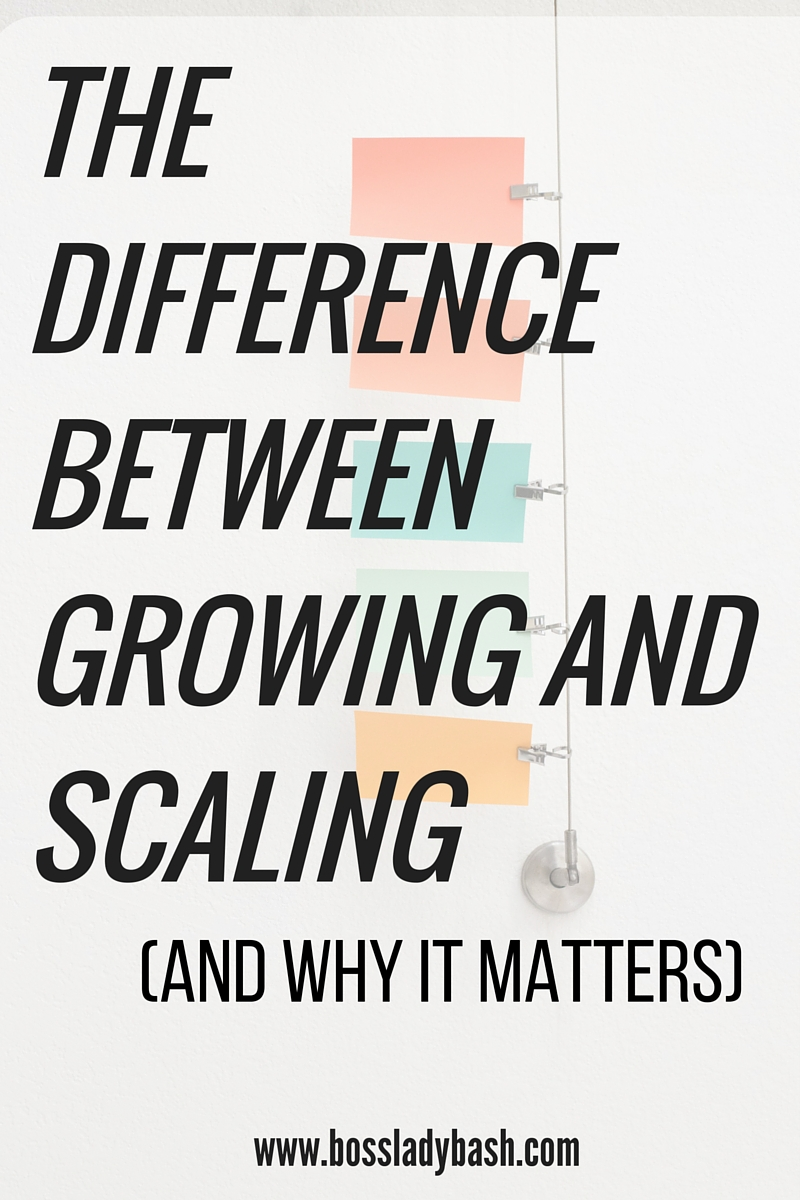 Why scaling is better than growing in your business