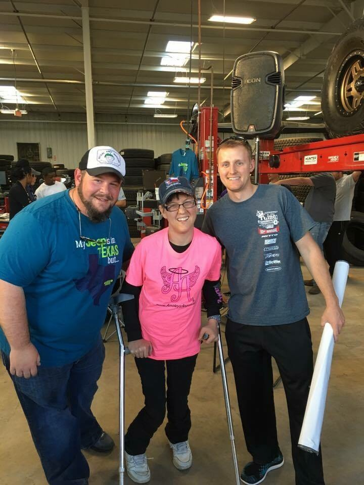 Jared and Russ with Amanda, Ambassador for Ainsley's Angels