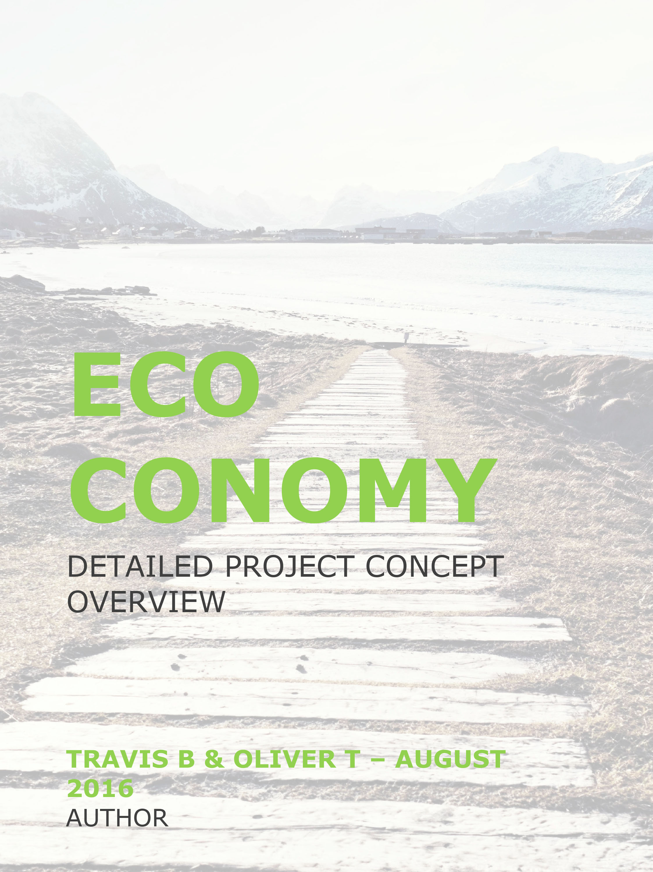 ECOCONOMY - Detailed Project Concept Overview - Click  here  to request PDF Document