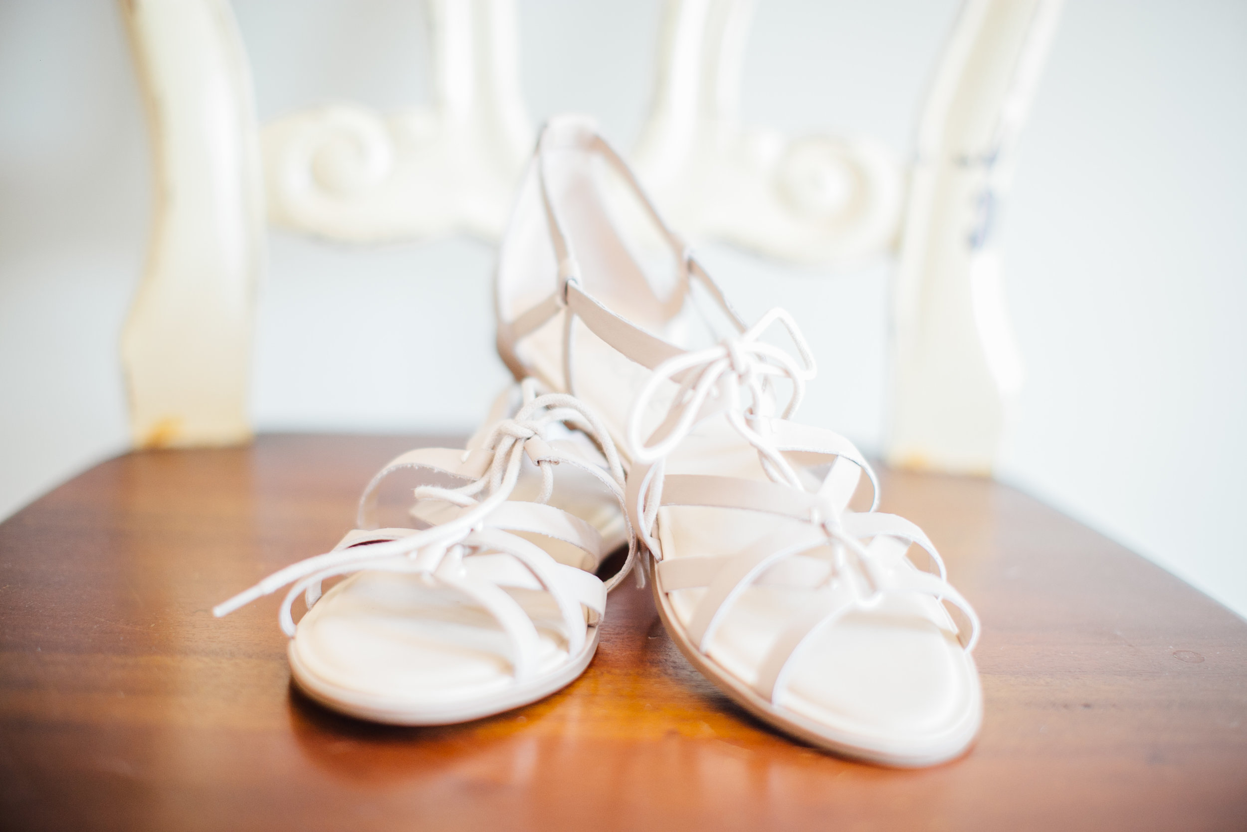 Bride's Strappy Wedding Sandles Little Thompson Valley Pioneer Museum Berthoud Colorado Wedding