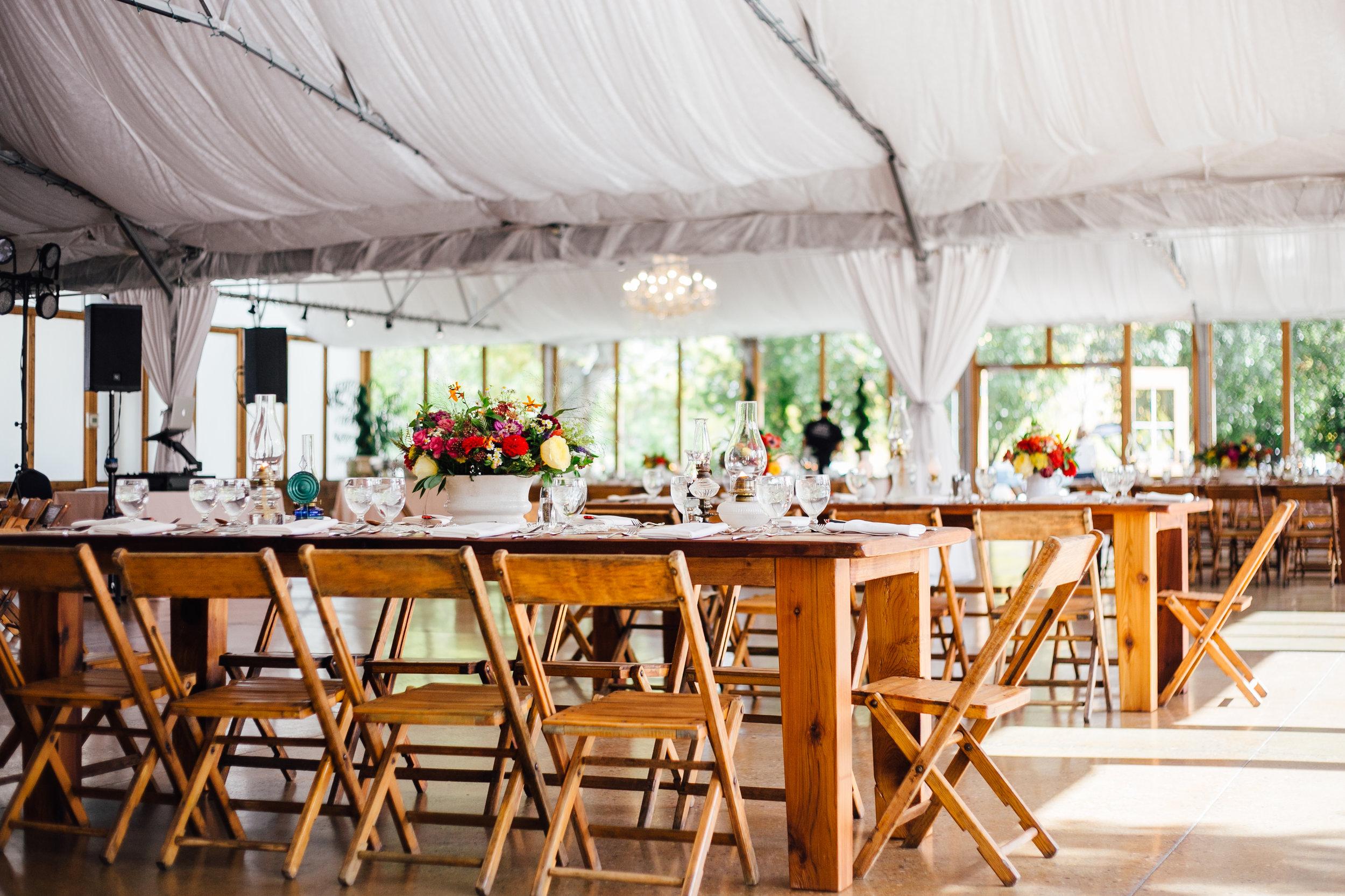Wedding Reception Brookside Gardens Berthoud Colorado Wedding