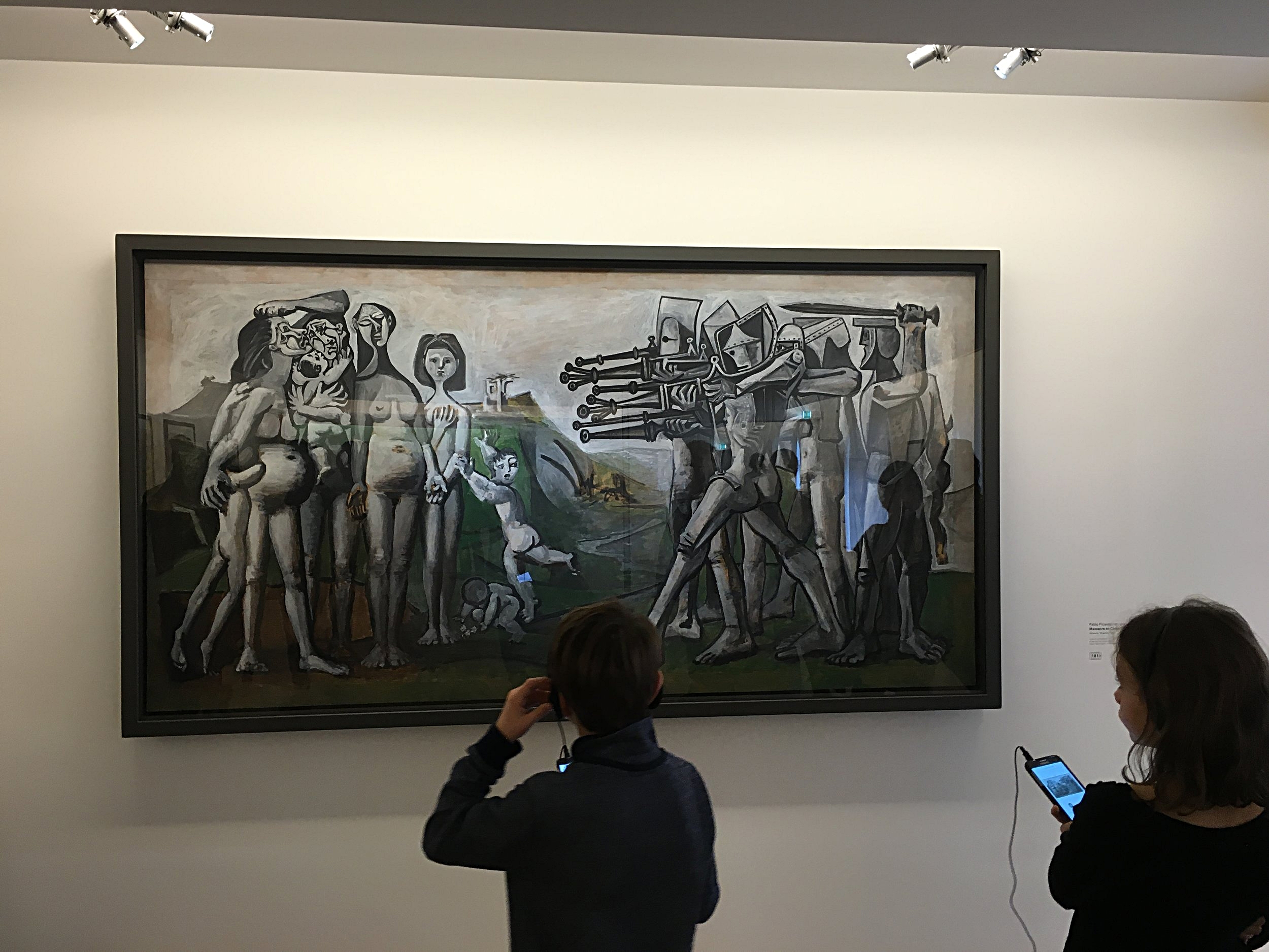 Massacre in Korea.I was so inspired by these children appreciating this haunting work of Picasso.