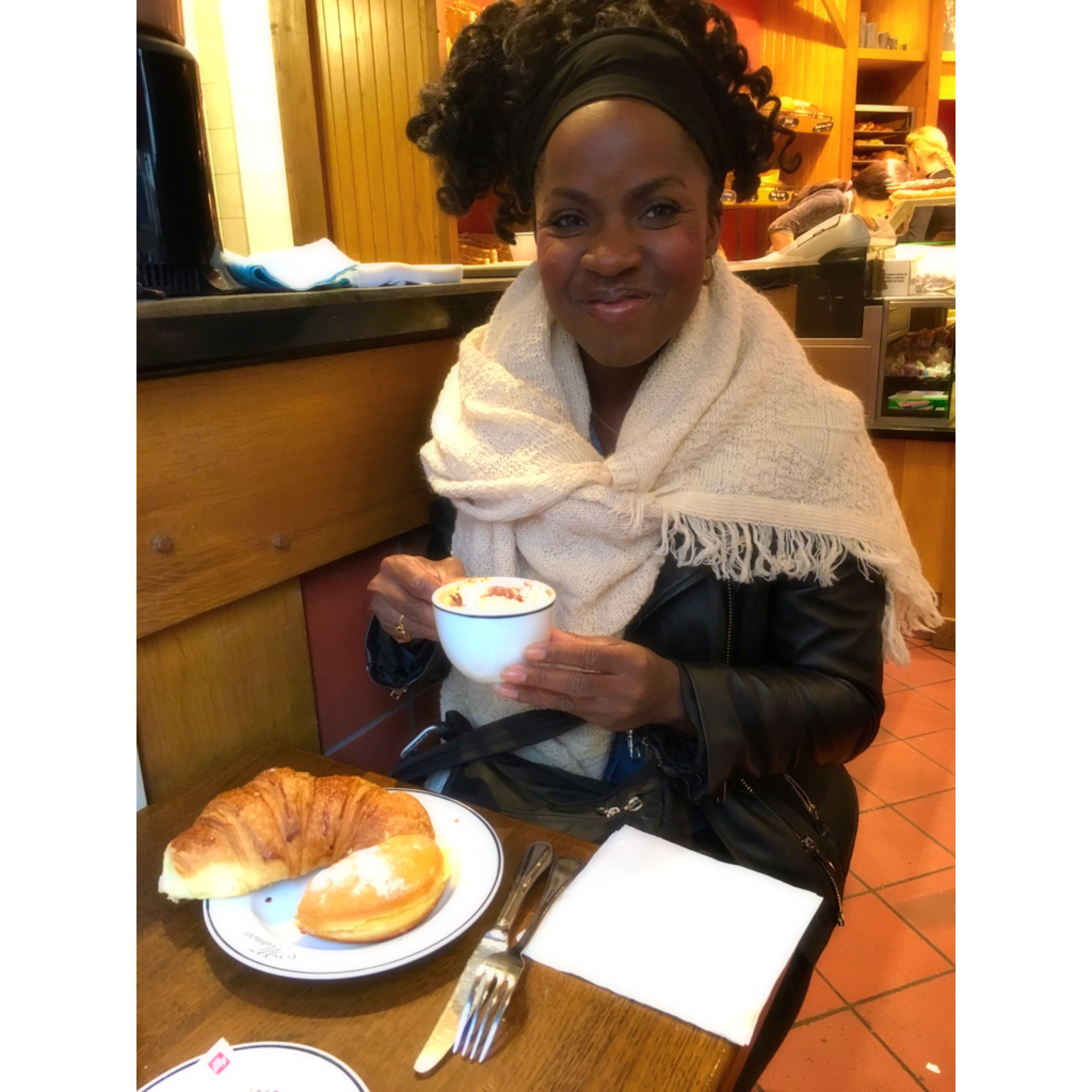 Mission Accomplished: Great art, beautiful city covered in fall leaves, a croissant and cappuccino! Fall into Paris!