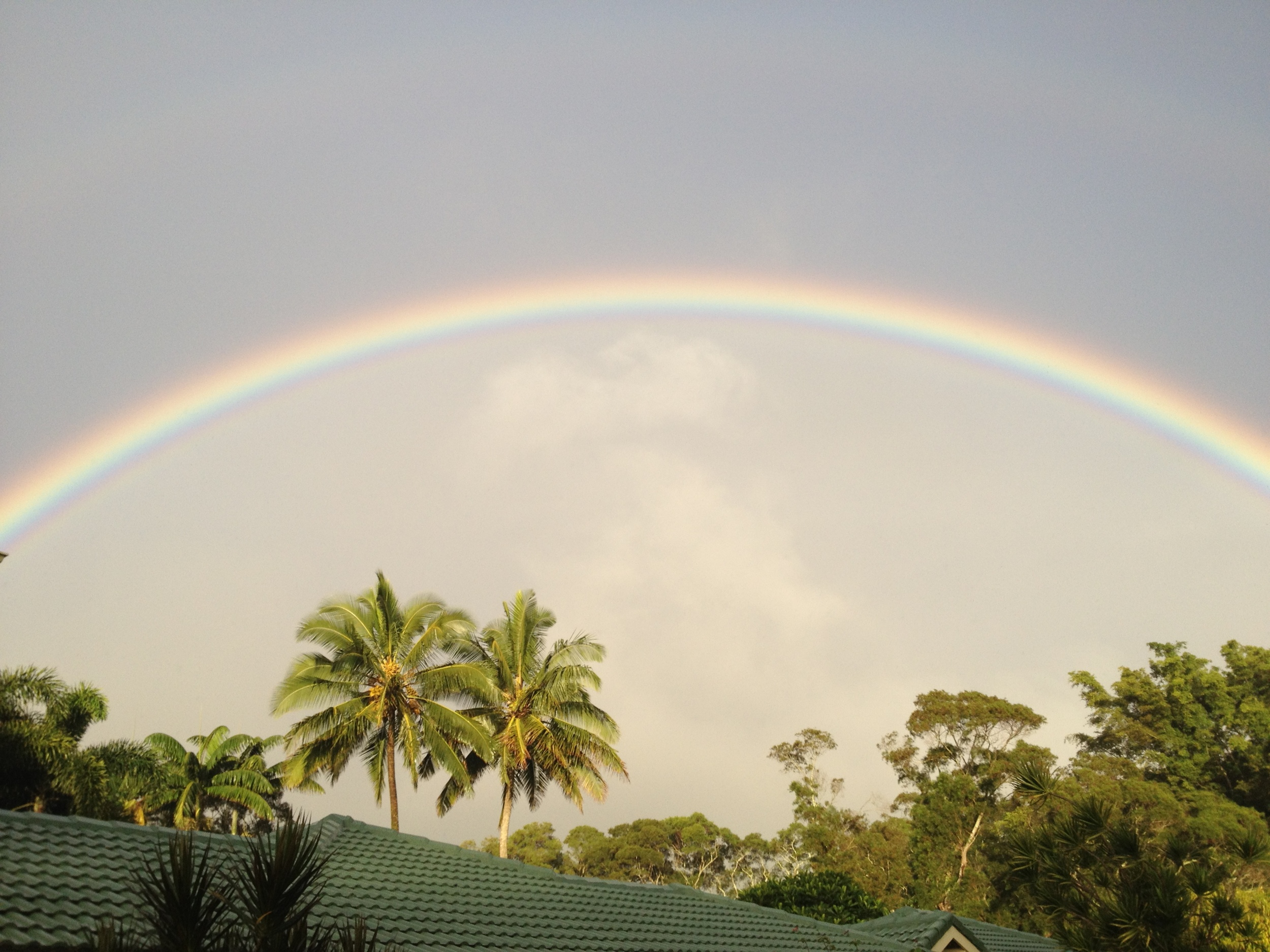 Rainbow over SATTVA Ayurvedic Clinic, Kauai, Hawaii