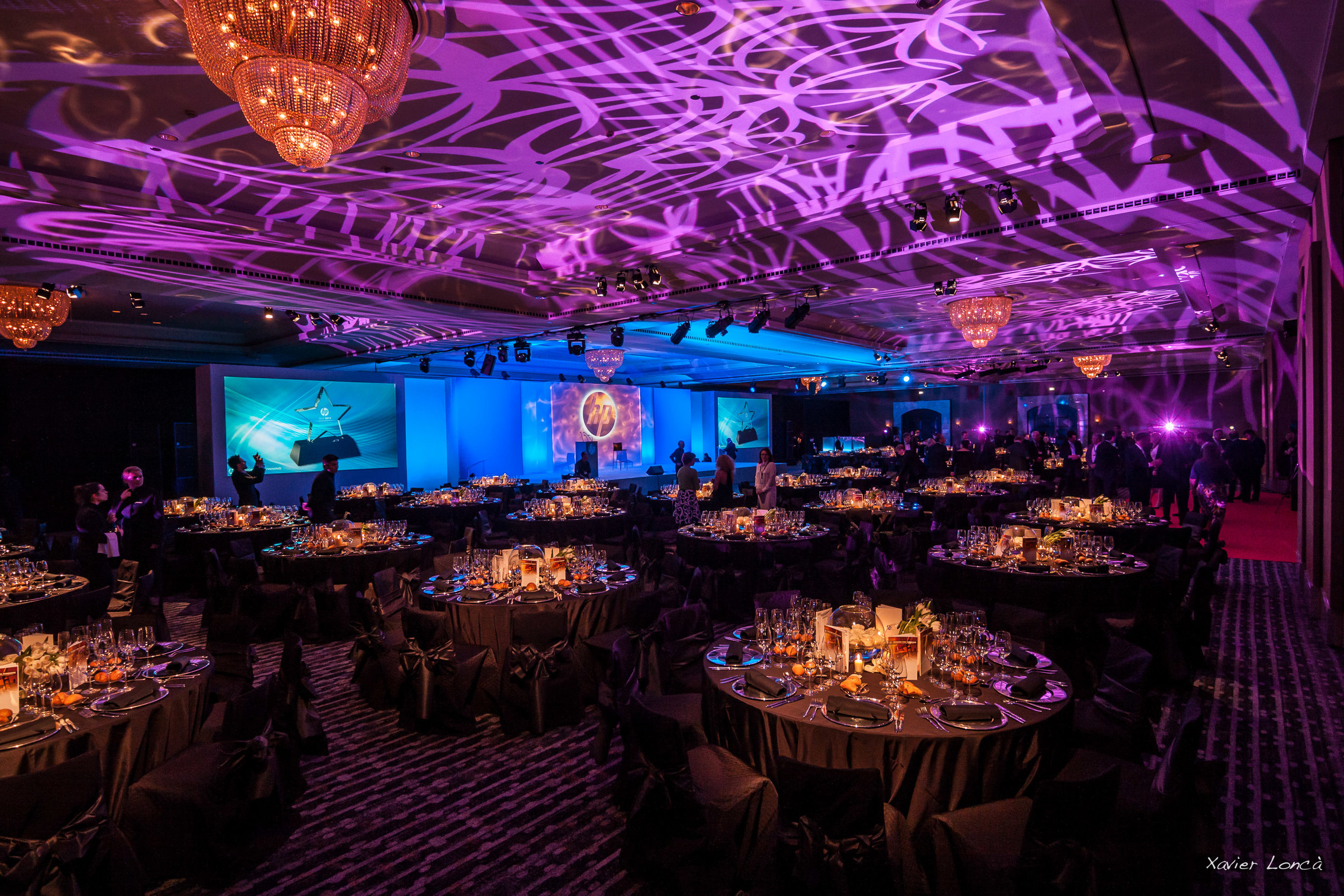 Lighting - Lighting is the quite possibly the most important factor in setting the right atmosphere for an event. From soft and warm ambiance to party beams, we stock all the fixtures in-house and have countless hours of experience in programming the right mood.