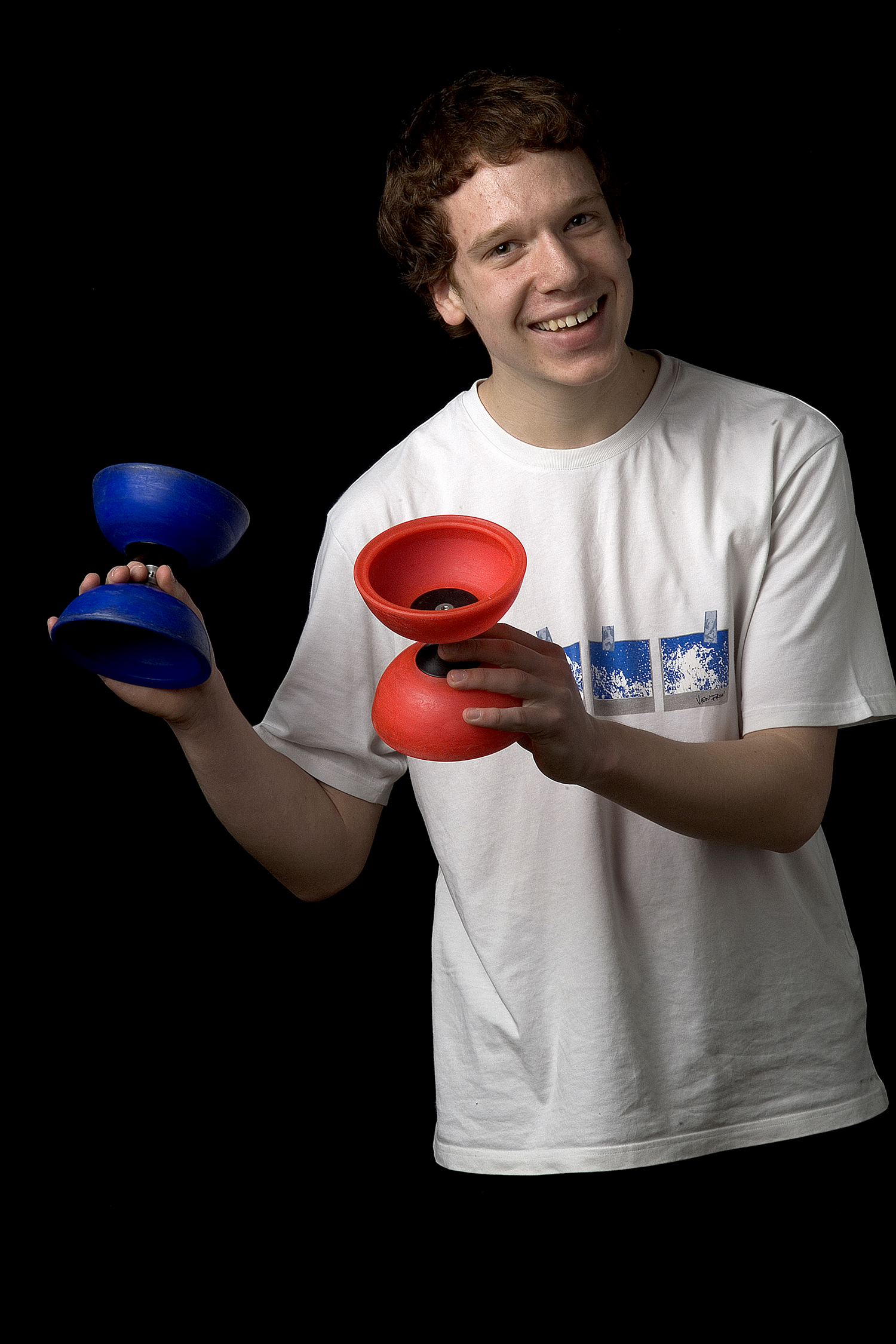 Juggler, National Centre for Circus Arts, London. Portrait by Anthony Oliver