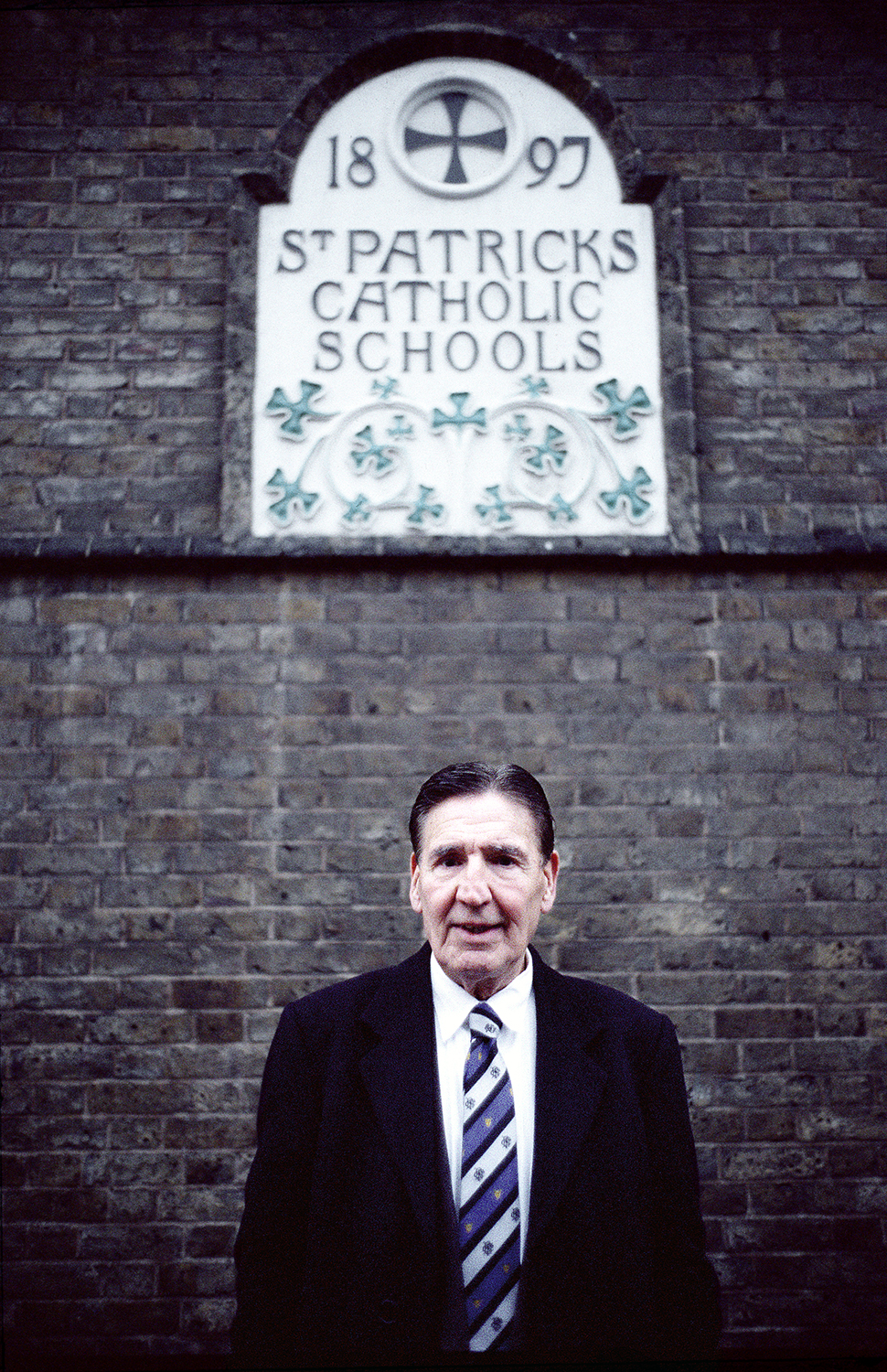 Mad Frankie Fraser, Outside his First School.  Portrait by Anthony Oliver