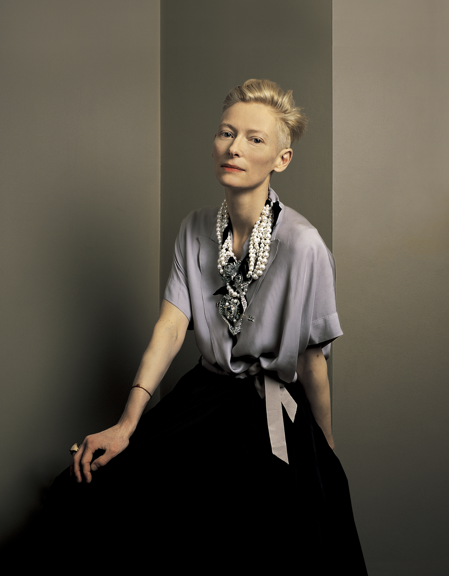 Tilda Swinton, Actress. Sight and Sound magazine. Portrait Anthony Oliver