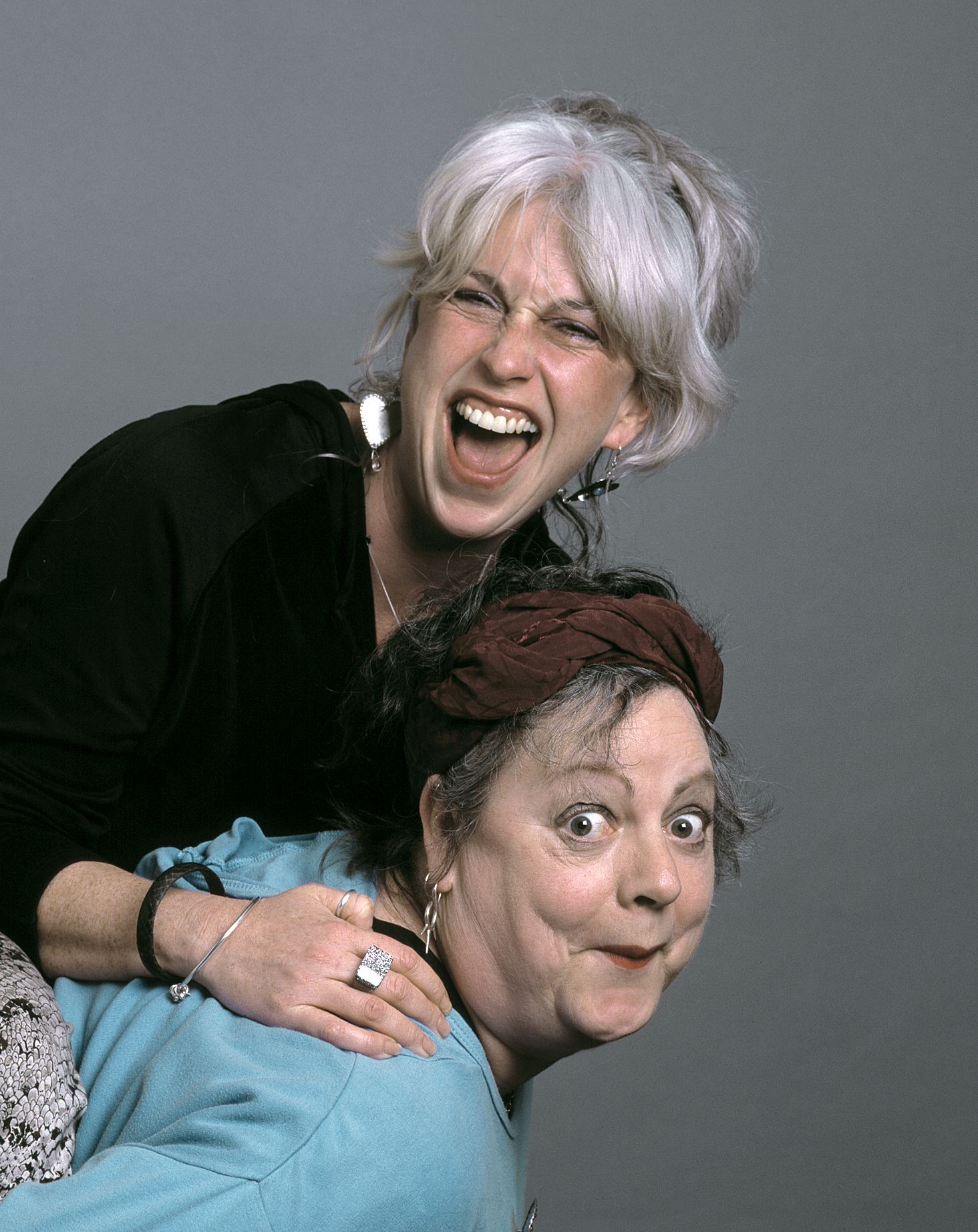 Jo Brand and Helen, The Independent. Portrait by Anthony Oliver