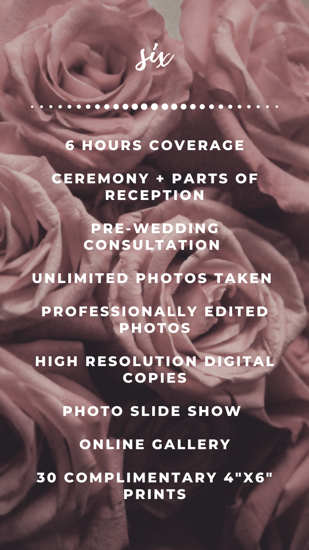 Photographed With Love Wedding Package - 6 Hours.png
