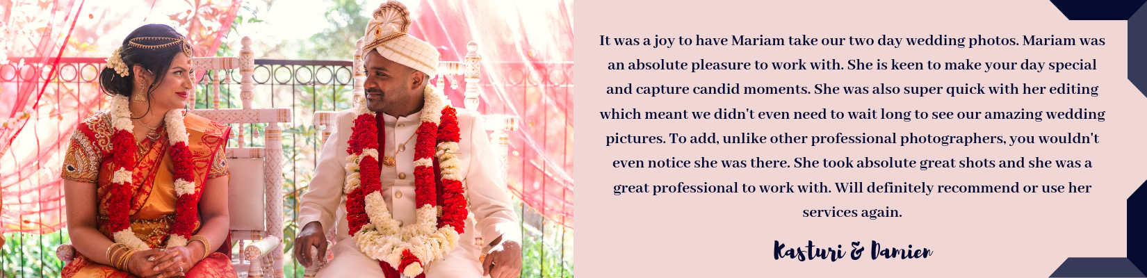 Photographed With Love Indian Wedding Photography Testimonials