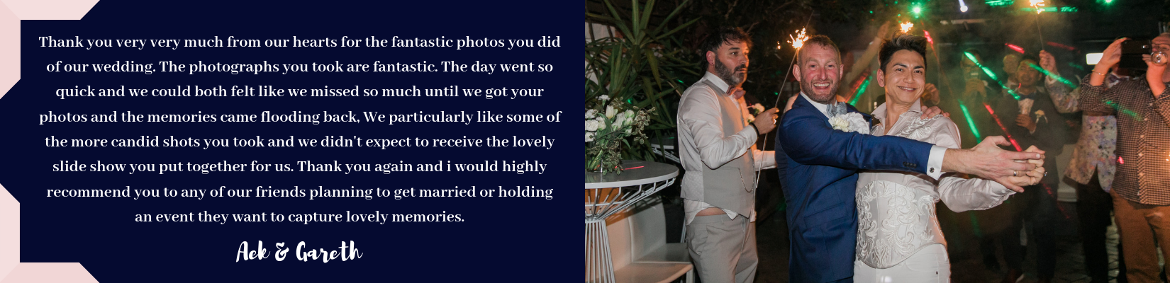 Photographed With Love - Wedding Photography Testimonials