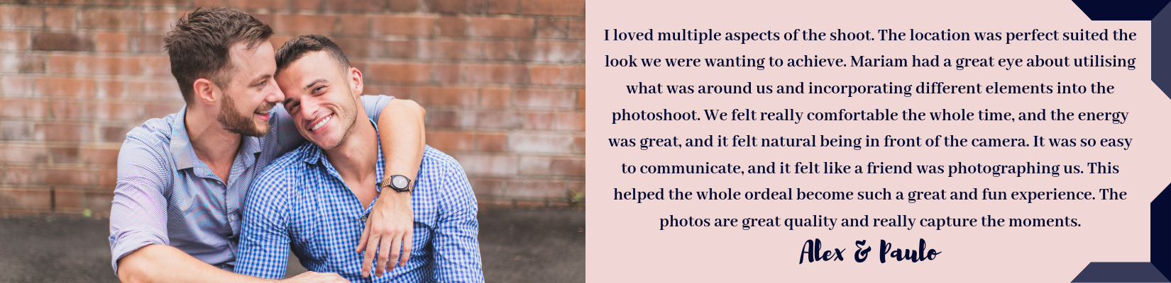 Photographed With Love - Same Sex Portrait Photography Sydney Review