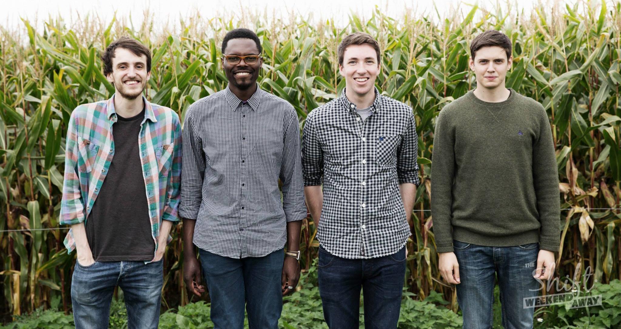 from left: Nathan Stirling, Kelani Koyejo, Jonathan Ogden, and David Hailes