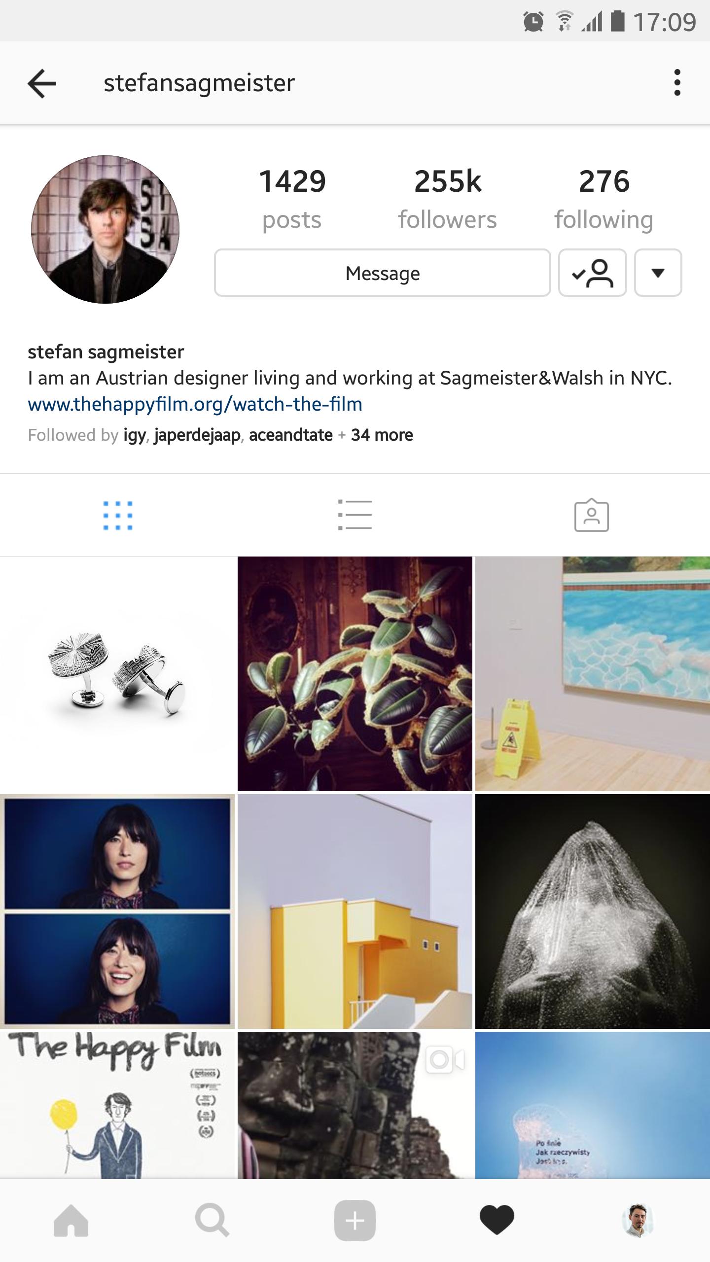 Stefan Sagmeister Instagram